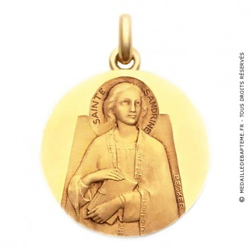 Médaille Sainte Sandrine  - medaillle bapteme Becker