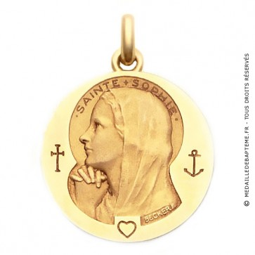 Médaille Sainte Sophie  - medaillle bapteme Becker