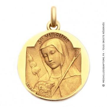 Médaille Sainte Virginie  - medaillle bapteme Becker