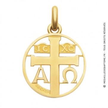 Médaille Symbole Croix  - medaillle bapteme Becker