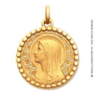 Médaille Vierge à l'Eglantier  - medaillle bapteme Becker