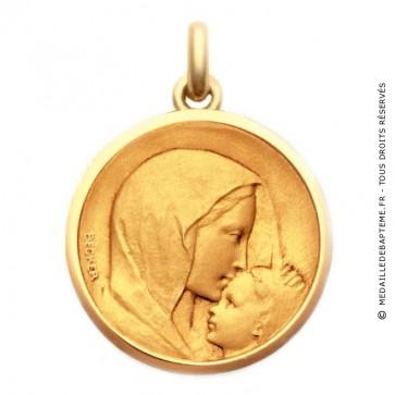 Médaille Vierge à l'Enfant - Le Baiser  - medaillle bapteme Becker