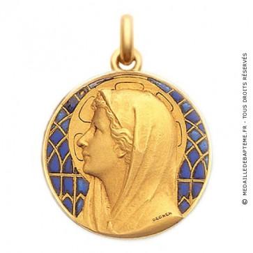 Médaille Vierge au Voile  - medaillle bapteme Becker
