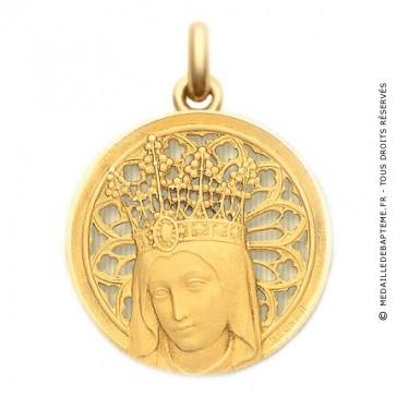 Médaille Vierge Couronnée  - medaillle bapteme Becker