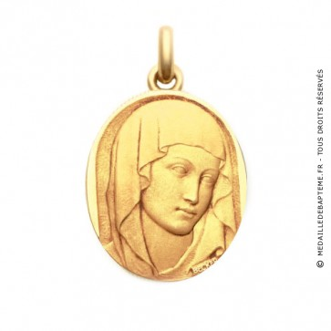 Médaille Vierge du XIII  - medaillle bapteme Becker