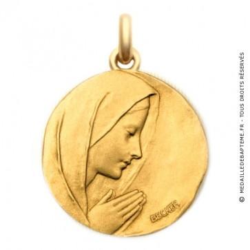 Médaille Vierge en Prière  - medaillle bapteme Becker