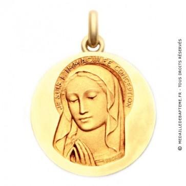 Médaille Vierge Immaculée  - medaillle bapteme Becker