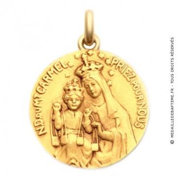 Médaille Vierge Mont Carmel  - medaillle bapteme Becker