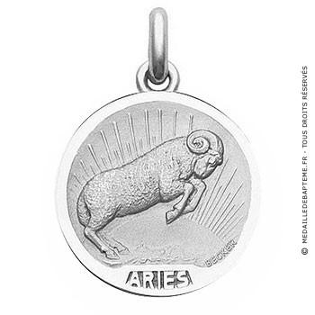 Médaille Zodiaque Bélier BECKER ( argent)
