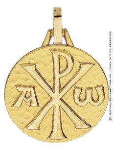 Médaille Chrisme (Or Jaune 9k)