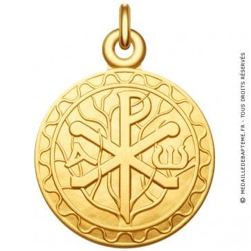 Médaille symbole Chrisme - Monogramme du Christ