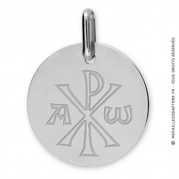 Médaille Chrisme (Or Blanc 9k)