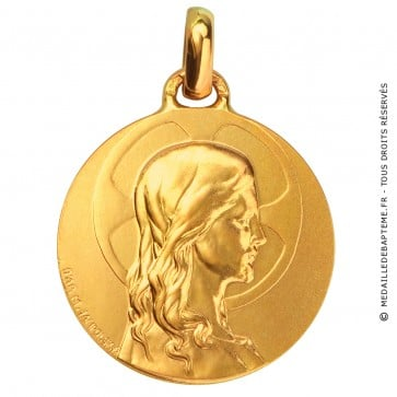 Médaille Christ adolescent (Or Jaune)