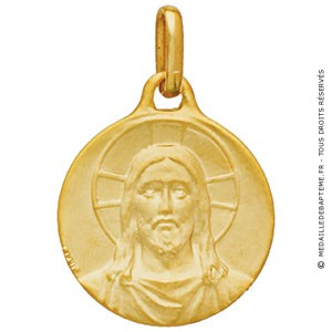 Médaille Christ (or jaune)