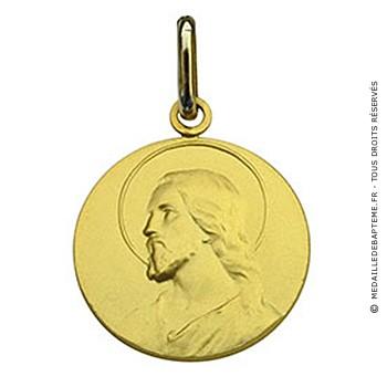 Médaille Christ Massive (Or Jaune)