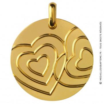 Médaille Comme des Cœurs dans l'eau (Or Jaune)