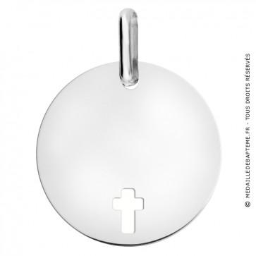 Médaille croix ajourée (Or Blanc)