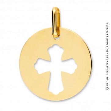 Médaille croix ajourée (Or Jaune)