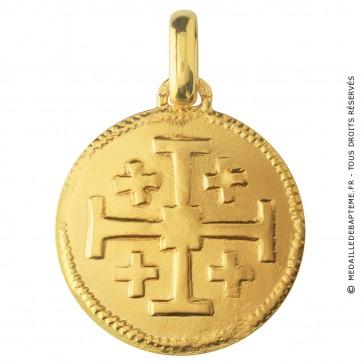 Médaille Croix de Jérusalem (Or Jaune)