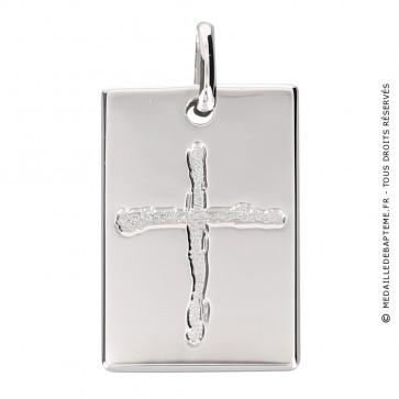Médaille croix rectangulaire (Argent) Martineau