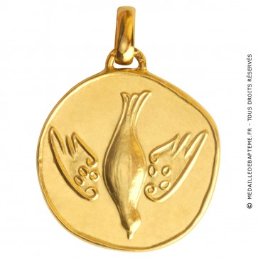 Médaille de Communion (Or Jaune)