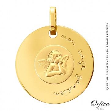 Médaille disque Ange Raphaël