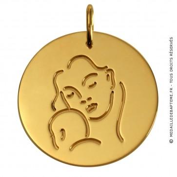 Médaille Femme à l' Enfant (Or Jaune)