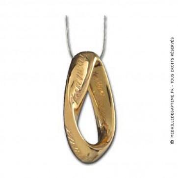 Médaille Infinitude (anneau de moebius) (Or Jaune)