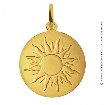 Médaille je brillerai comme un soleil (Or Jaune)