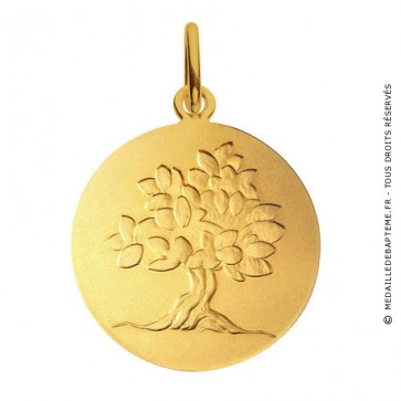 Médaille je grandirai comme un arbre (Or Jaune)