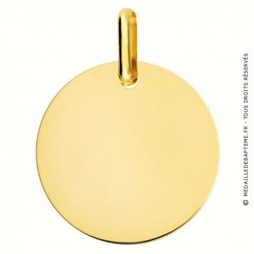 Médaille à graver 18mm (or jaune 9 carats)
