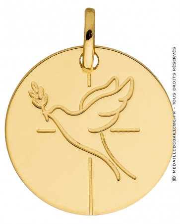 Médaille colombe divine (Or Jaune)