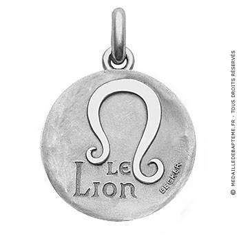 Médaille stylisée Zodiaque Lion BECKER ( argent)
