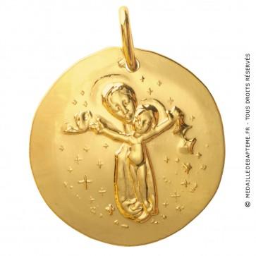 Médaille Madone à l'offrande (Or Jaune)