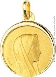 Médaille Madone Profil Droit (Or Jaune 9k)
