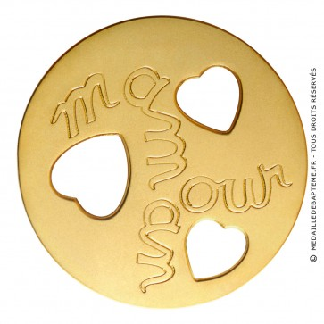 Médaille Maman Amour (Or Jaune)