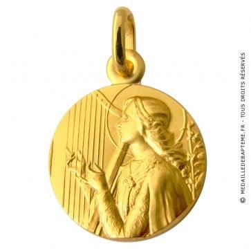 Médaille Sainte Cécile (Or Jaune)