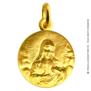 Médaille Martineau Vierge Marie dans la lumière (or jaune)