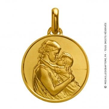 Médaille Mère et Enfant (Or Jaune)
