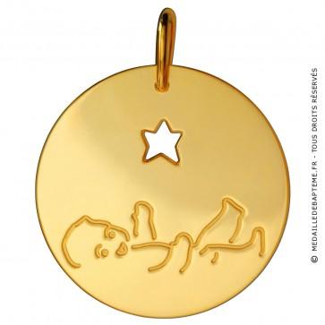 Médaille Né Sous une Bonne étoile (Or Jaune)