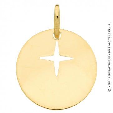 Médaille étoile du Berger (Or Jaune 9k)