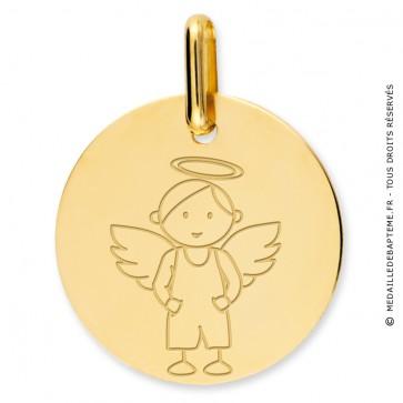Médaille ange garçon (Or Jaune)
