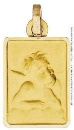 Médaille Petit Ange Rectangulaire (Or Jaune)