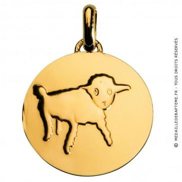 Médaille Petit Prince dessine moi un mouton (Or Jaune)