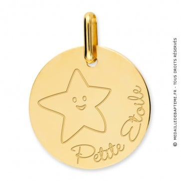 Médaille petite étoile (Or Jaune)