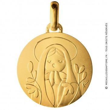 Médaille Petite Sainte Vierge (Or Jaune)