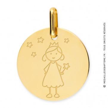 Médaille princesse (Or Jaune)