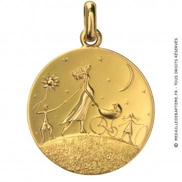 Médaille Ronde de la Vie (Or Jaune)
