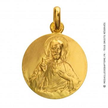 Médaille Sacre-Coeur de Jésus (Or Jaune)