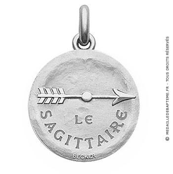 Médaille stylisée Zodiaque Sagittaire BECKER ( argent)